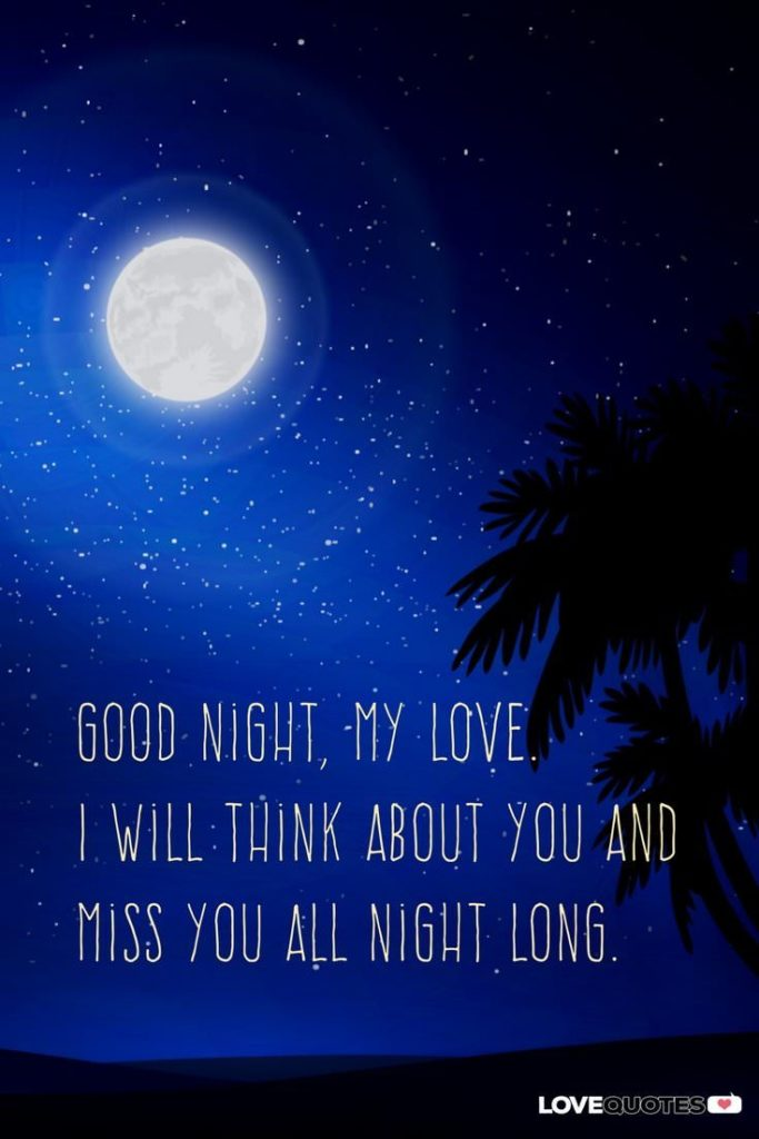 50 Pics of Good Night my Love Greetings, Quotes and