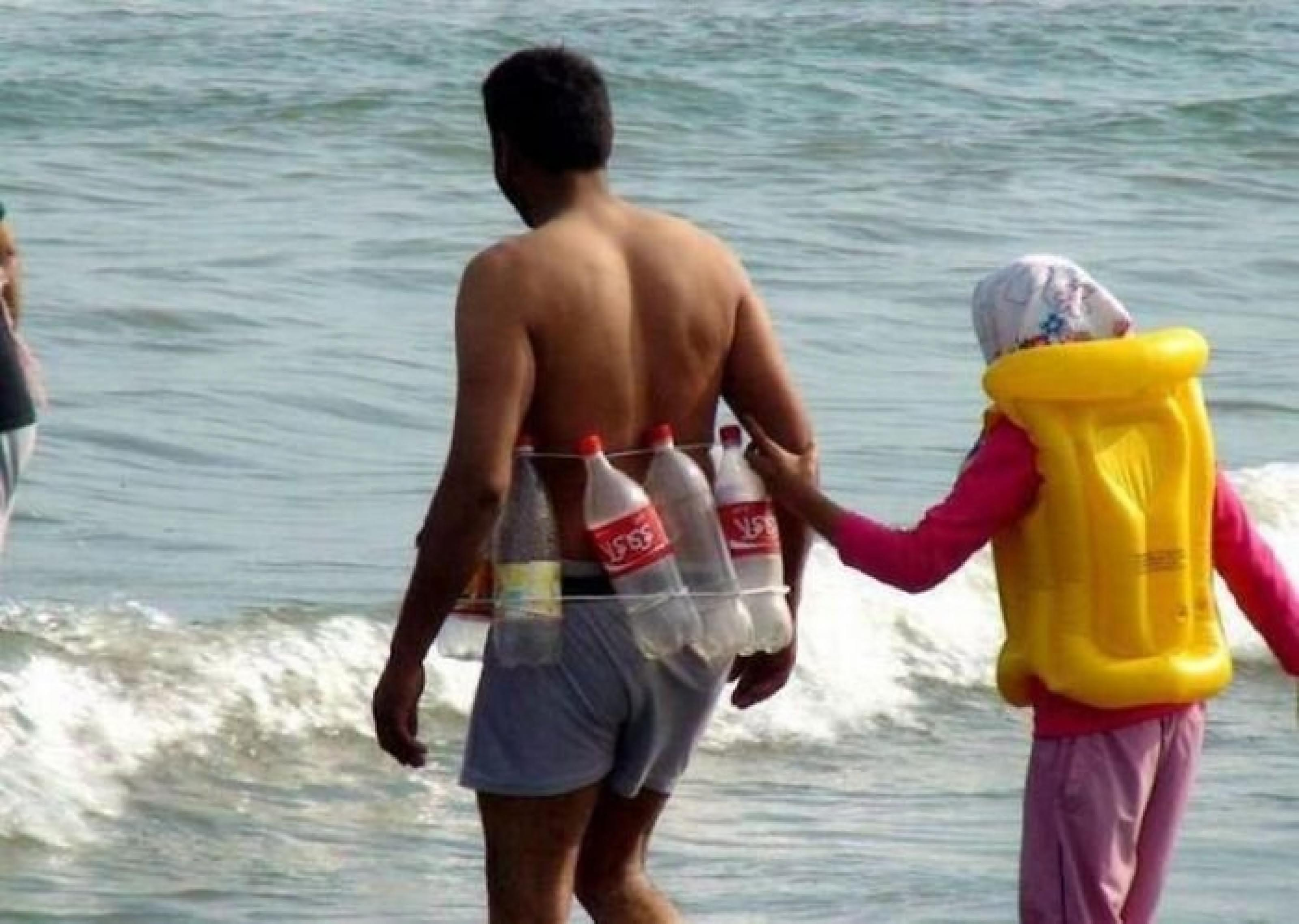 Funny Safety On Beach Picture Bunch Of Funny Indian Photos That Will Surely Make Your Day (19 Images)